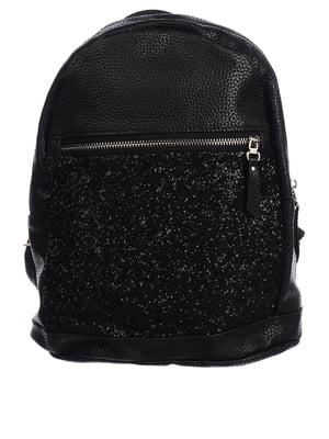 Рюкзак чорний з хутряним оздобленням   5834541