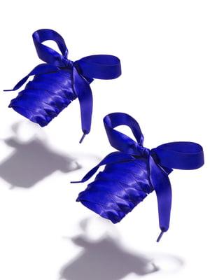 Шнурки для обуви синие   5845097