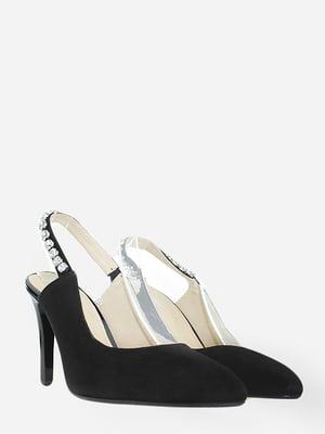 Туфлі чорні з декором   5802604
