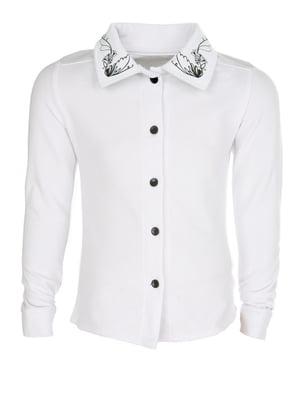 Рубашка белая с принтом | 5749226