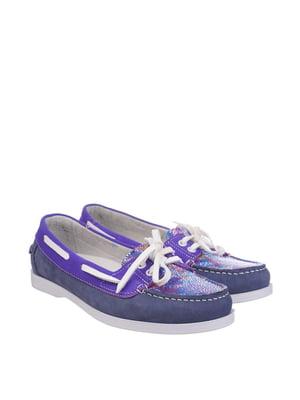 Топ-сайдеры сине-фиолетовые   5835006