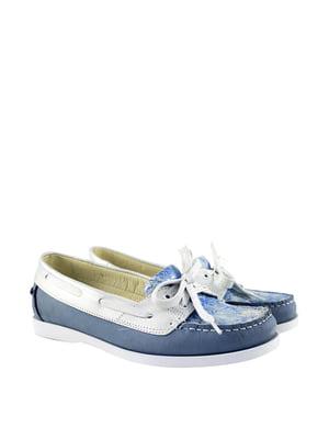 Топ-сайдеры сине-белыые   5835015