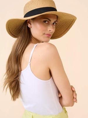 Шляпа соломенная бежевая | 5851108