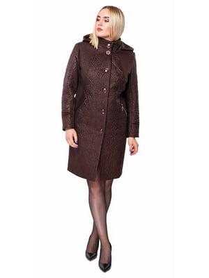 Пальто шоколадного цвета   5847974