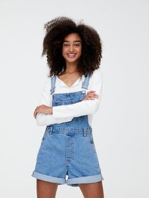 Комбинезон синий джинсовый | 5853694