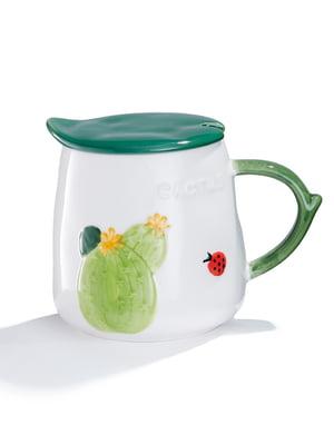 Чашка с крышкой и ложкой (470 мл) | 5850058