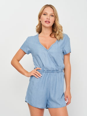 Комбинезон джинсовый голубой   5774491