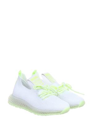 Кроссовки бело-салатовые | 5796602