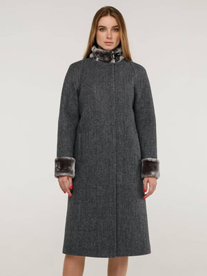 Пальто серое   5861124