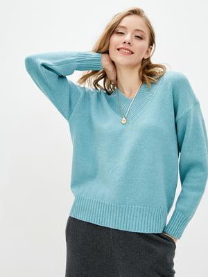 Пуловер ментолового кольору   5866180