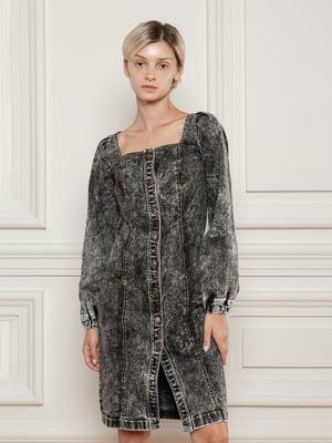 Сукня-сорочка джинсова чорна   5866509