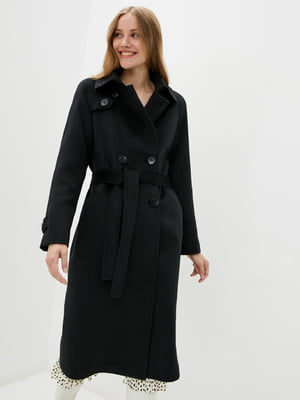 Пальто двобортне чорне   5866757