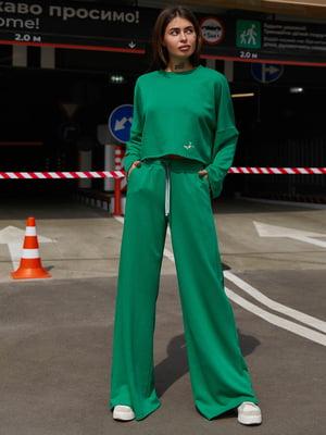 Костюм зеленый: джемпер и брюки   5866806
