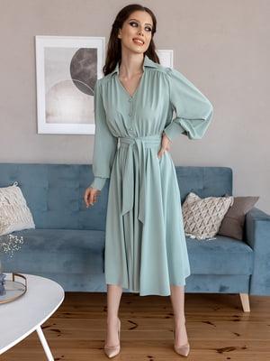 Платье-рубашка мятного цвета | 5867360