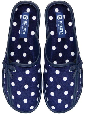 Тапочки сині у горох | 5867395