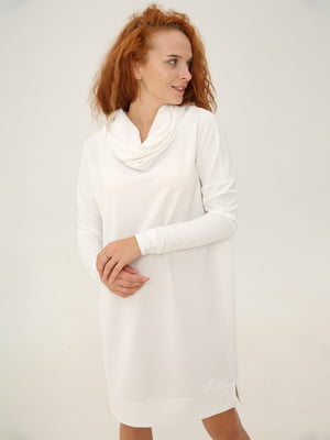 Платье-свитер оверсайз молочное | 5869040