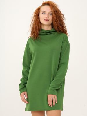 Платье-свитер цвета хаки | 5869042