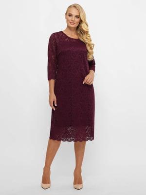 Платье А-силуэта бордового цвета   5870037