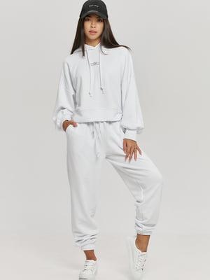 Костюм белый: худи и брюки   5872518