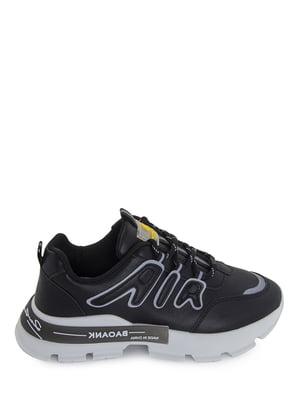 Кроссовки черные с логотипом | 5873872