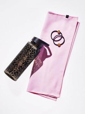 Набор: бутылка для воды, резинка для волос (2 шт) и полотенце   5874155