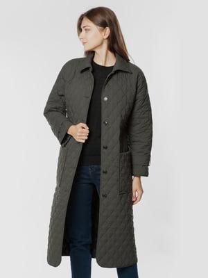 Пальто цвета хаки   5875477
