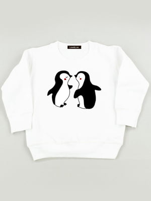 Світшот білий з принтом «Дитяча любов» | 5879829