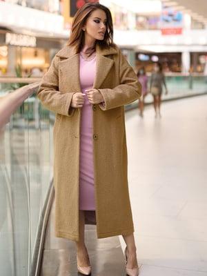 Пальто коричневое   5879937
