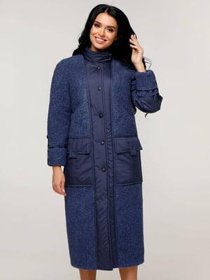 Пальто синее   5880627