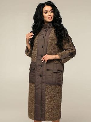 Пальто коричневое   5880628