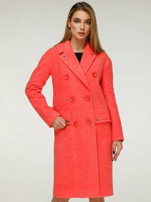 Пальто оранжевого цвета   5880630