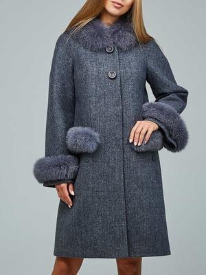 Пальто серое   5880813