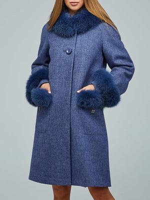 Пальто синее   5880814