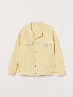 Куртка джинсова жовта | 5878367