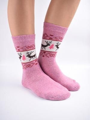 Шкарпетки рожеві з орнаментом   5902889