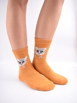 Шкарпетки помаранчеві в принт   5902894