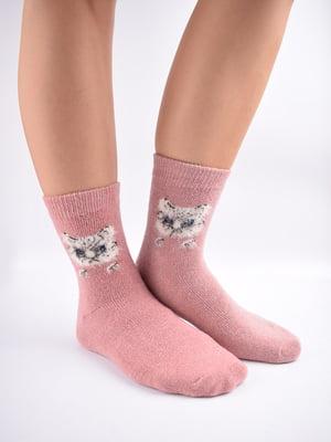 Шкарпетки рожеві в принт   5902895