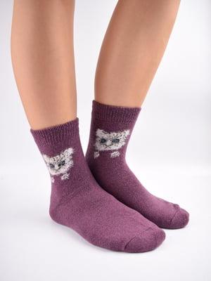 Шкарпетки фіолетові в принт   5902902