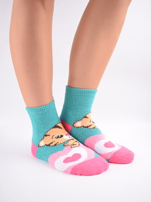 Шкарпетки комбінованого кольору в принт   5902916