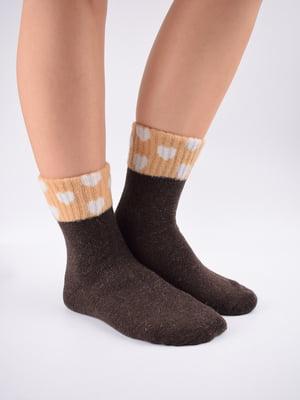 Шкарпетки коричневі в принт   5902935