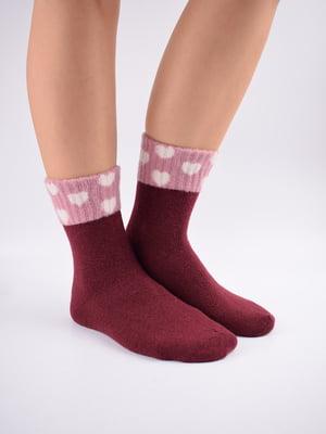 Шкарпетки бордові в принт   5902936