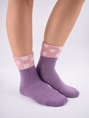 Шкарпетки фіолетові в принт   5902938