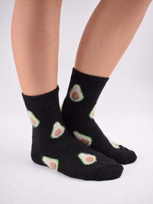 Шкарпетки чорні в принт   5902943