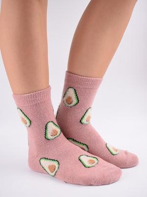 Шкарпетки рожеві в принт   5902944