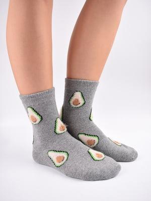 Шкарпетки сірі в принт   5902952