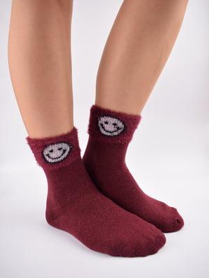 Шкарпетки бордові в принт   5902954