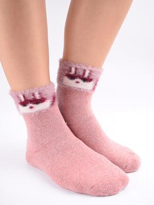 Шкарпетки рожеві в принт   5902873