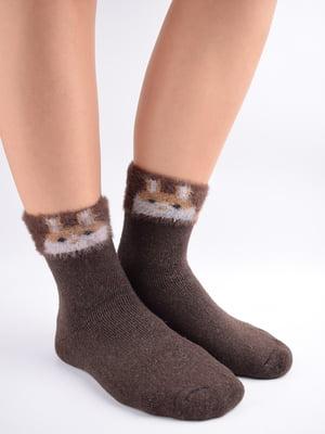 Шкарпетки коричневі в принт   5902874