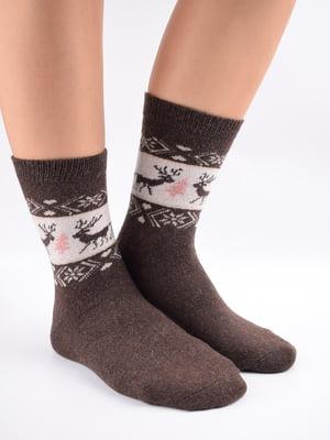 Шкарпетки коричневі з орнаментом   5902886