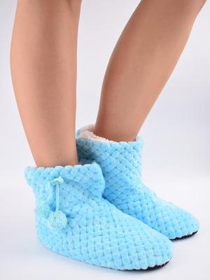 Тапочки-шкарпетки блакитні   5903049